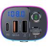 FM-трансмиттер Bluetooth 5.0 модулятор, зарядное устройство QC3.0, USB, TypeC, handsfree NOVELEKA FM3