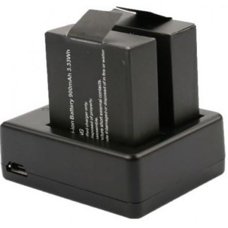 Зарядное устройство на 2 аккумулятора для экшен камеры NOVELEKA NC1, NC2, NC3