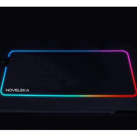 Игровой коврик для мыши c волновой RGB подсветкой NOVELEKA