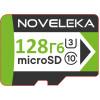 Карта памяти MicroSD 128 Гб U3, class 10 + SD адаптер NOVELEKA, высокая скорость записи до 81 Мб/с